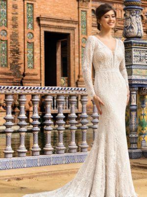Brautkleid Mode De Pol Theone Meerjungfrau Spitze V Ausschnitt Transparent Allover Spitze To 1150t 01 1.jpg