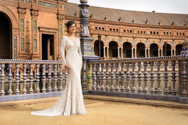 Brautkleid Mode De Pol Theone Meerjungfrau Spitze V Ausschnitt Transparent Allover Spitze To 1150t 03 1.jpg