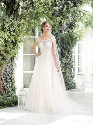 Brautkleid Mode De Pol Theone Pailletten Herzausschnitt Tüll A Linie Carmen To 911t 01