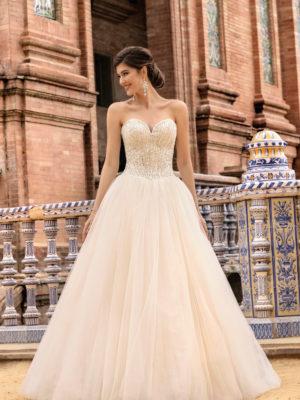 Brautkleid Mode De Pol Theone Prinzessin Traegerlos Corsage Tuell Herzausschnitt Schnuerung Pailletten 3d Optik To 1216 01.jpg