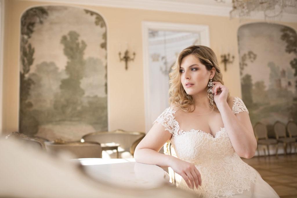 Brautkleid Mode De Pol Dekollete Herzform übergröße
