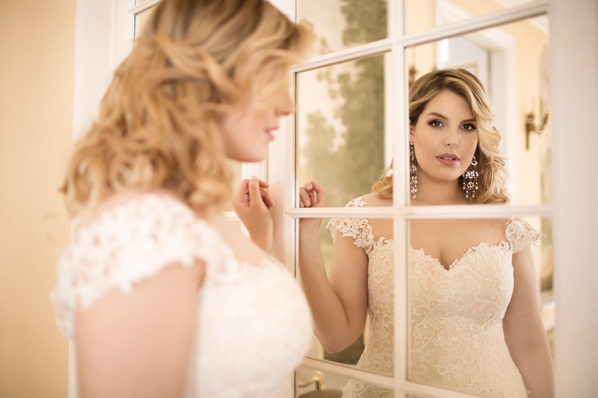Brautkleid Mode De Pol Lovely übergröße Spiegel Schloss Hochzeit