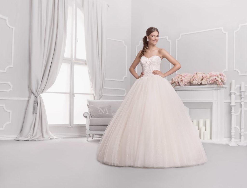 Brautkleid Mode De Pol Prinzessin Glitzer Weit