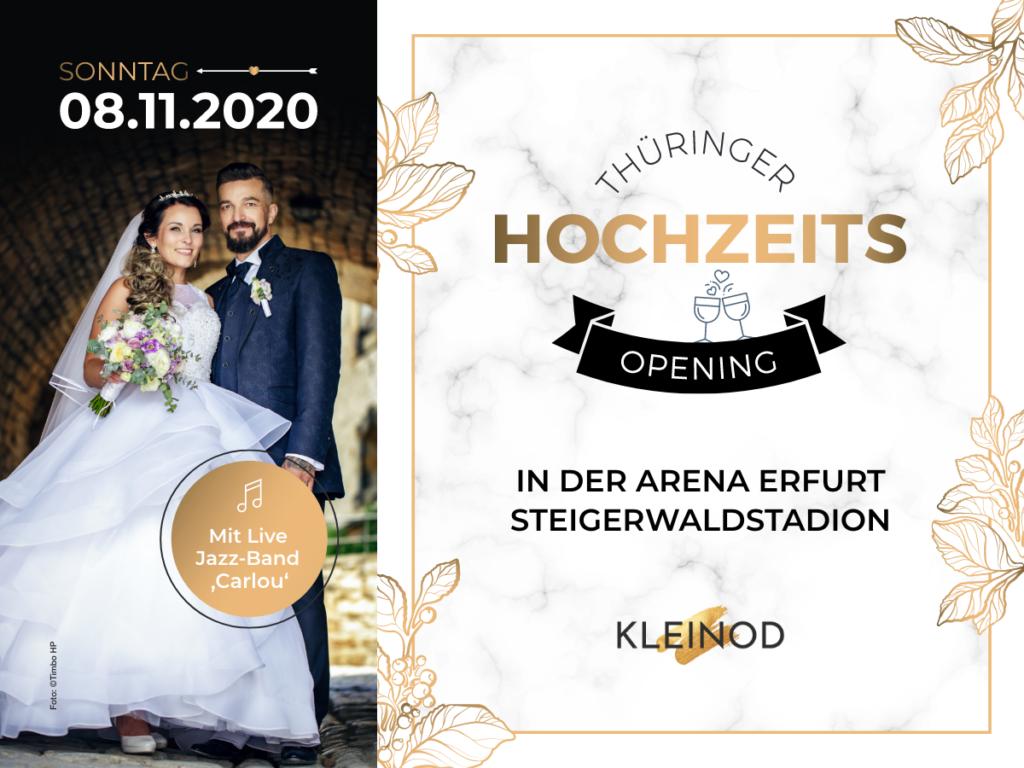 Hochzeitsmesse Erfurt Thüringen Hochzeitsopening Brautkleid Heiraten Steigerwaldstadion Arena 2021